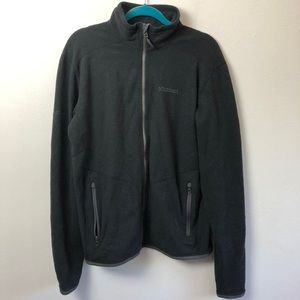 Marmot Black Fleece Full Zip Up Jacket